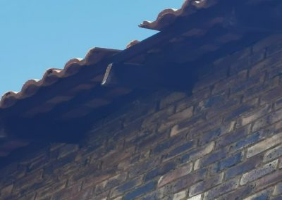 Fixing of roof damaged by strong wind