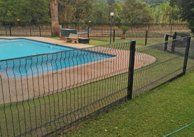 Clearvue Fencing on Swimming Pool